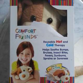 BNIB Plush toy with reusable gel pack for hot/cold therapy