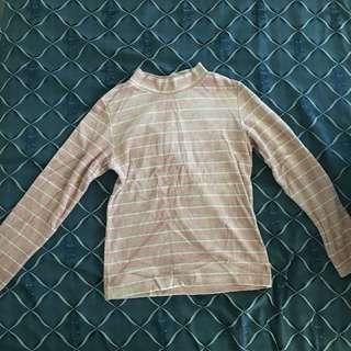 Japanese brand long sleeve pink turtleneck 💕