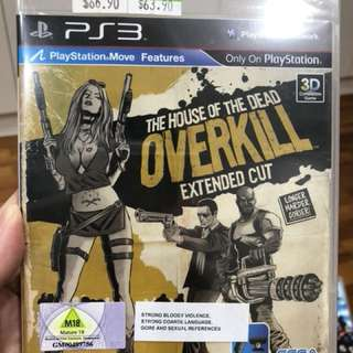 PS3 Games The House of the Dead Overkill extended cut