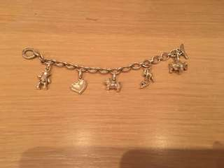 Authentic Links of London bracelet with 5 charms