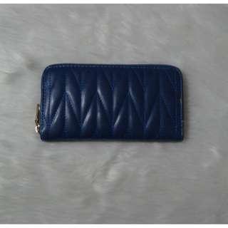 Blue Long Wallet