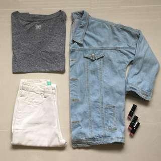 💌 $5.50 Mailed! MOSSIMO grey v neck tee shirt