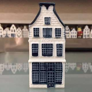 Blue Delft's KLM Porcelain Houses (per piece)