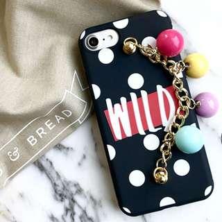 Iphone case Wild Black Polka dot
