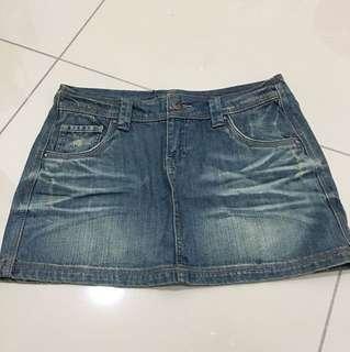 [New] Nichii Denim Short Skirt