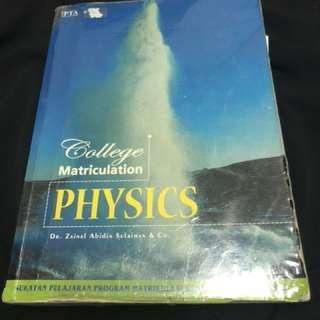 Physics Textbook for Asasi/Matrik/STPM