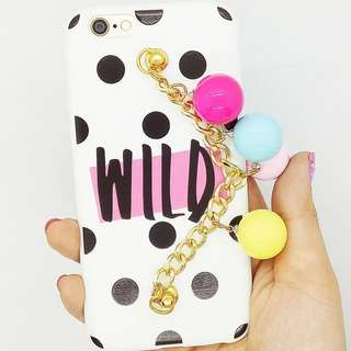 Iphone case Wild White polka dot