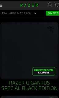 RAZER GIGANTUS - BLACK EDITION MOUSE MAT