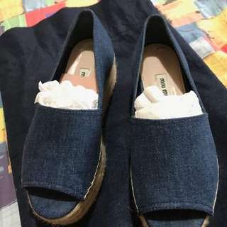 Authentic mui mui denim spadrilles