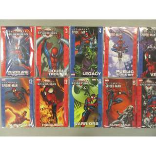 Marvel Comics Ultimate Spider-Man Spiderman Volume Vol. 1 - 12 Brian Michael Bendis & Mark Bagley Spiderverse Gwen Stacy Mary Jane