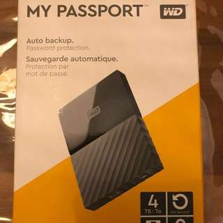 Western Digital WD My Passport 4TB HDD Portable Storage External Hard Drive