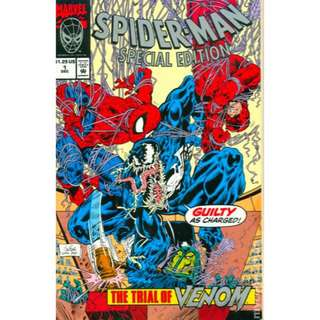 Spider-Man Venom Unicef 1992 Comic Book Spiderman Jury Daredevil Marvel Comics Exclusive
