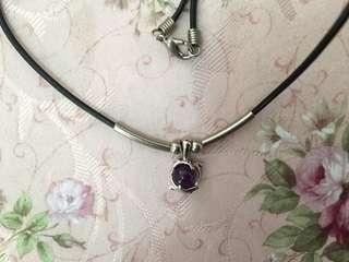 紫水晶 頸鏈 購自韓國