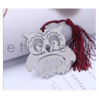 ED18005 METALLIC OWL BOOKMARK