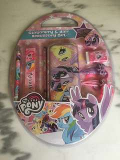 My Little Pony Stationery & Hair Accessory Set