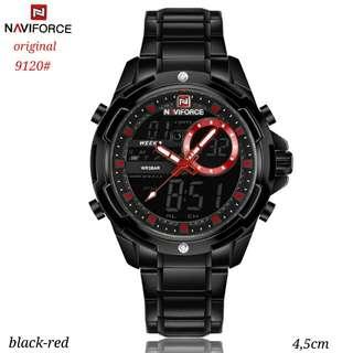 jam Naviforce 9120#1   original, tali rantai wana Black dalaman 4 warna Tgl-hari-bulan aktif water resistant garansi mesin 1thn. Free Box.  Berat 200gr  H 320rb