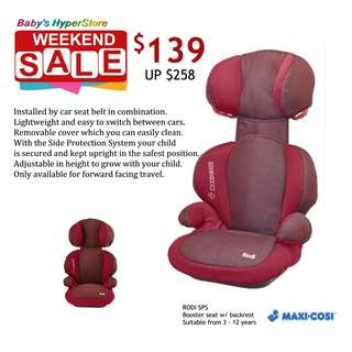 Maxi-Cosi Rodi SPS Booster seat with backrest