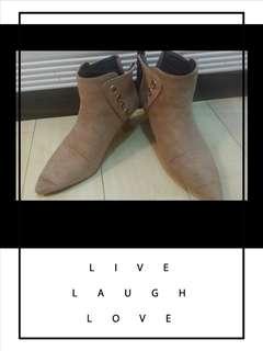 $99女裝ankle boot 啡色