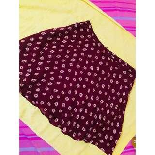 F21 mrn mini skirt