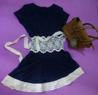 Navi white mini dress