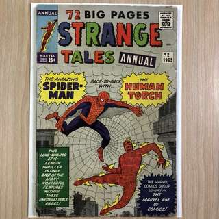MARVEL COMICS Strange Tales Annual #2- 4th Appearance of Spider-Man & 1st Crossover (Serious Buyers Only)