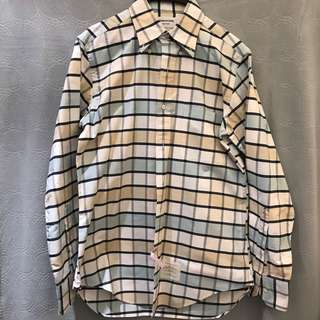 Thom Browne check button down shirt