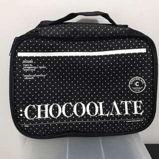 CHOCOOLATE 黑色波點旅行收納袋