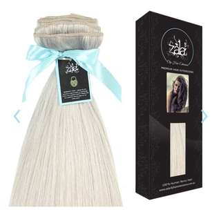 Zala Extensions 9 piece seamless clip in. Ice Queen (20 inch)