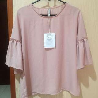 Baju Blouse Stradivarius Pink