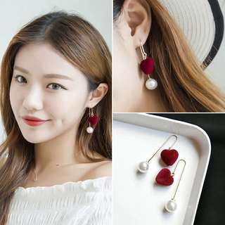 Lovely Heart Series Korean Earrings