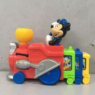 Disney Mickey Mouse Press N' Go Musical Train - Mattel HTF 2000