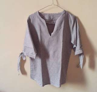 Forever 21 Look A Like Stripe Blouse