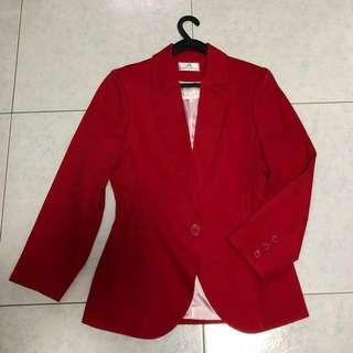 Women's blazer in red