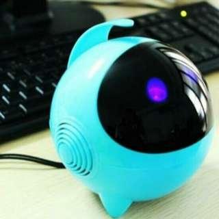 Cute Astros Luminous Bass Speakers Subwoofer USB 2.0 For Phone / Laptop / Desktop PC - Blue