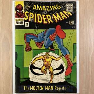 MARVEL COMICS The Amazing Spider-Man #35-2nd Appearance of the Molten Man (Serious Buyers Only)