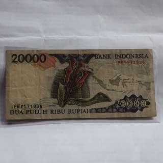 Uang 20.000 cengkeh