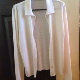 G2 White Knitted Jacket
