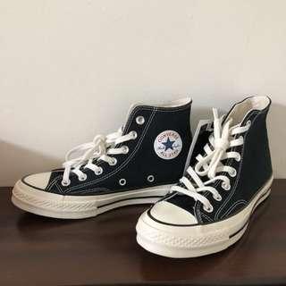 Converse 1970's 黑色高筒帆布鞋/奶油底