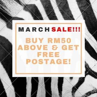 March Sale!!! FREE POSTAGE