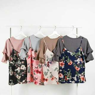 Dariose Flower Blouse