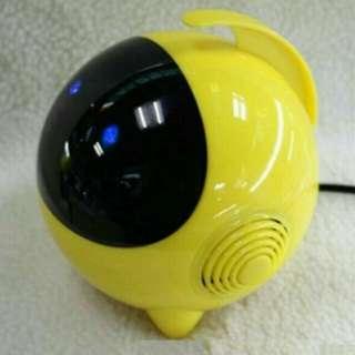 Cute Astros Luminous Bass Speakers Subwoofer USB 2.0 For Phone /  Laptop / Desktop PC - Yellow colour