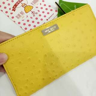 KATE SPADE OSTRICH EMBOSSED WALLET