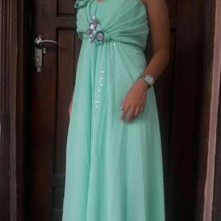 Mint Green Long Gown