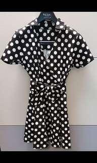 Black & white Pokka dot dress