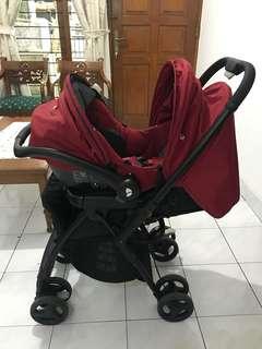 Stroller dan car seat joie preloved