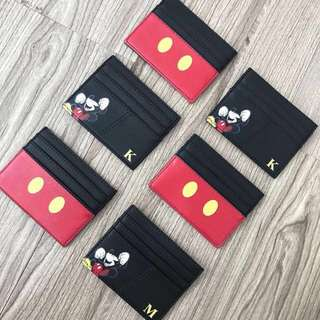 Custom cardholder mickey mouse saffiano leather