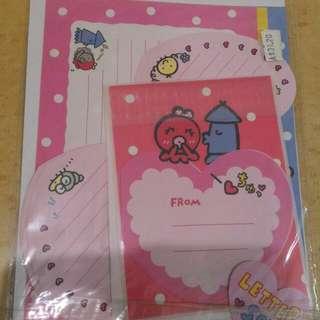 Sanrio 八爪魚信紙 (純分享)
