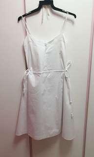 EQIQ white side tie cami dress
