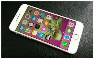 Iphone 6 Silver 128Gb ex resmi - SU - AU KDDI JAPAN - Fullset Murah
