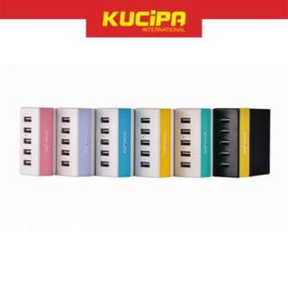 KUCIPA RU-U1/A20-Y Quick Charge Output 6A 5 USB Charger Adapter for Smartphone Tablet
